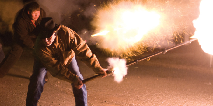 Shooting in the New Year in Cherryville, N.C.