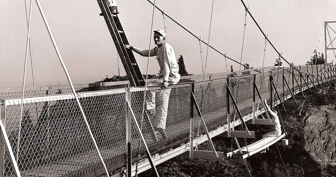 The History Of The Mile High Swinging Bridge