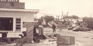 The aftermath of Hurricane Hazel in North Carolina in 1954