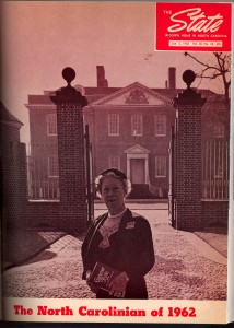 The State Magazine, January 5, 1962 Gertrude Carraway North Carolinian of the Year