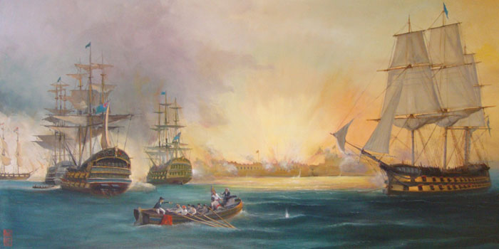 The Bombardment of Algiers by Paul Hee