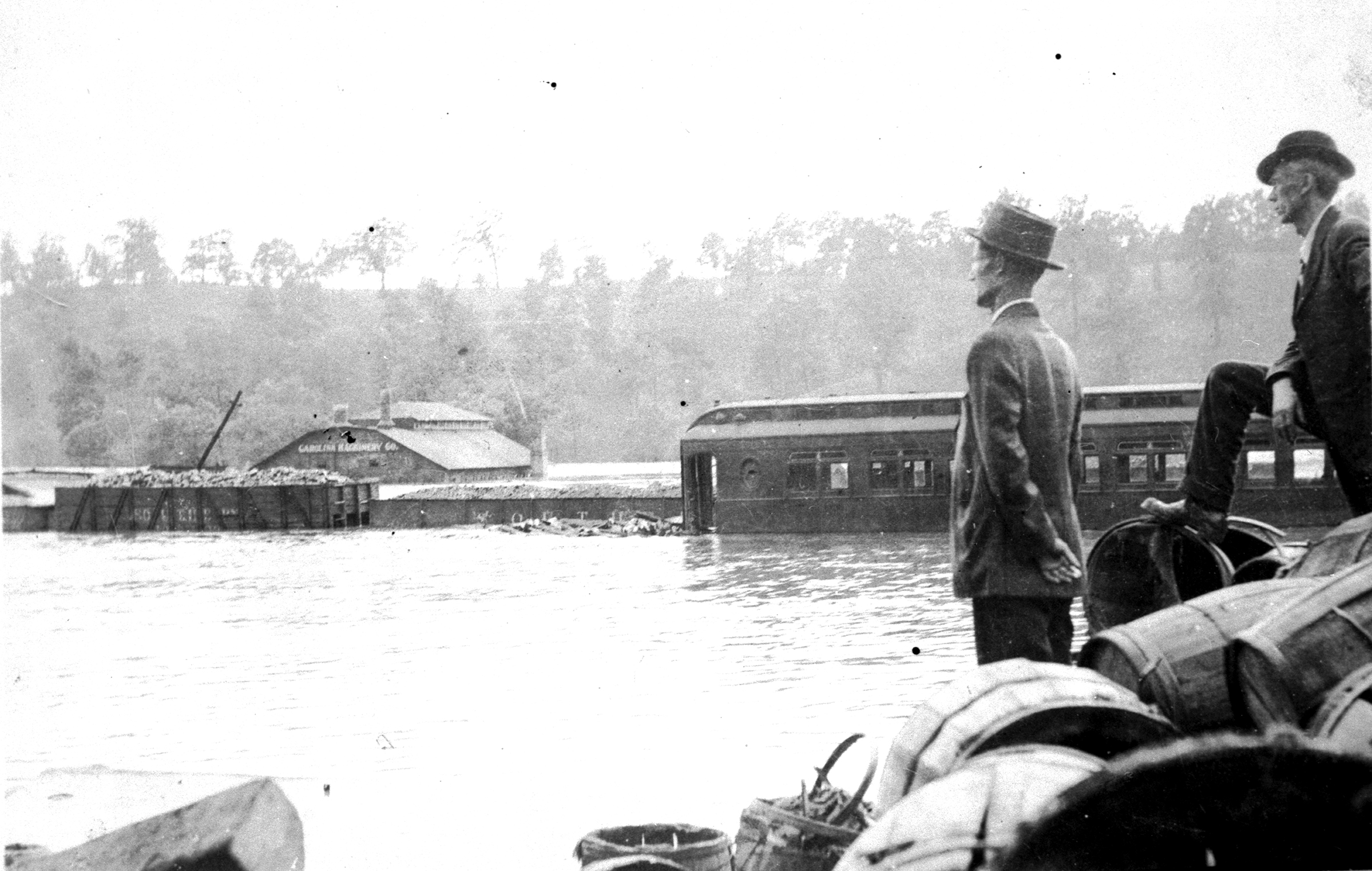 All the people could do after they fled to safety was watch their homes and towns wash away.Photograph courtesy of the state archives of north carolina
