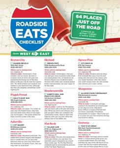 roadside eats checklist.indd