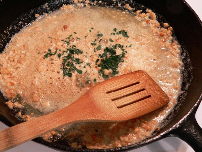 mahi-mahi recipe - add-parsley-and-stir