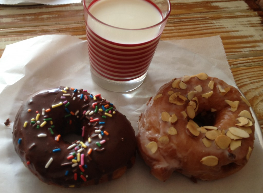 Chocolate with Sprinkles and Toasted Amaretto at Monuts