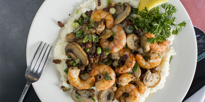 Bill Smith's Shrimp n Grits at Crooks corner in Chapel Hill, NC.