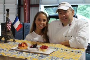 Chef Sylvain Rivet, right, brings French pastries from his business, Renaissance Patisserie, to the Gastonia Farmers Market with help from his daughter, Jessica.