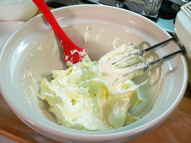 Be sure to scrape down the sides of the bowl as needed, throughout the process of mixing the batter.