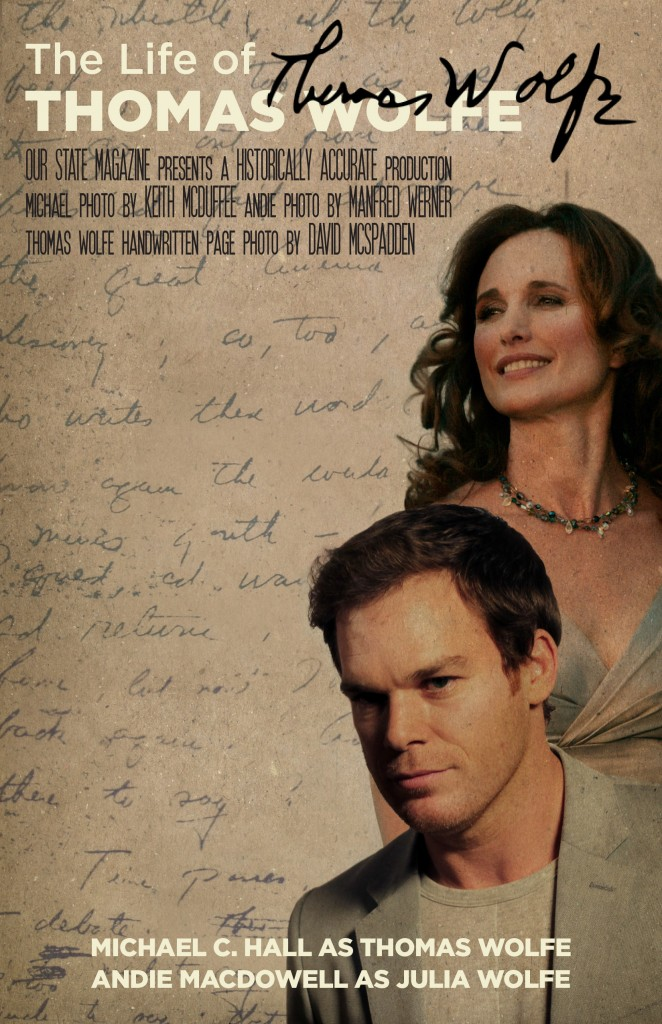 Michael C. Hall photo by Keith McDuffee / CC BY Andie MacDowell photo by Manfred Werner / CC BY-SA Thomas Wolfe Handwritten Page photo by David McSpadden / CC BY