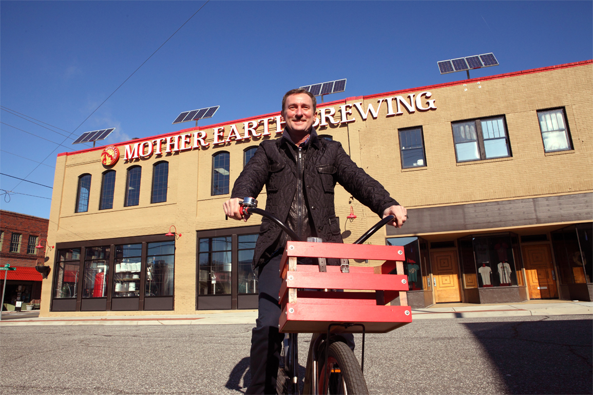 Stephen Hill, CEO of Mother Earth Brewery in Kinston. Photo courtesy VisitNC.com.