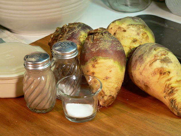 Mashed Rutabagas: You'll need these ingredients.