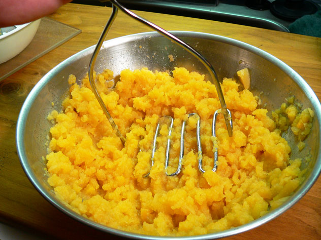 Use a potato masher and mash them up really good, just like mashed potatoes. Give them a taste test to see if they need anything else. A little butter stirred in will give them added flavor.