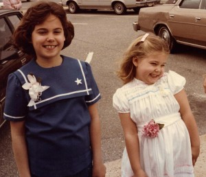 In this undated photo Hope Yancey, left, and her sister, Judith, show off Easter dresses and corsages.
