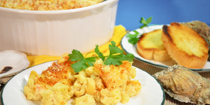 seafood mac and cheese feature image