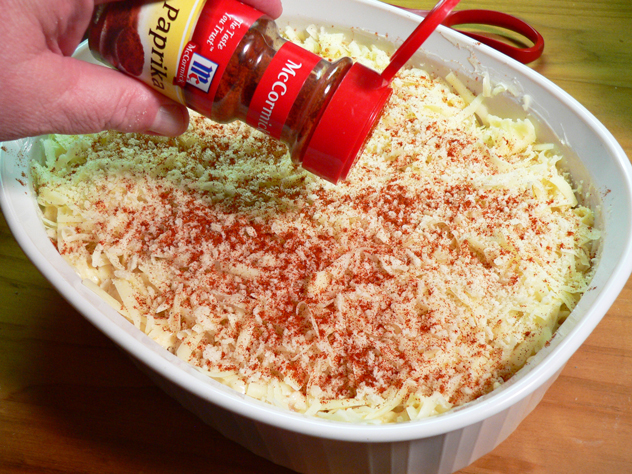 Sprinkle a little paprika across the top for added color.