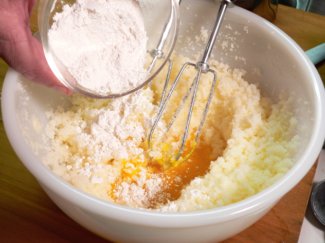 Add the flour. I used all-purpose because it was the closest thing at hand.