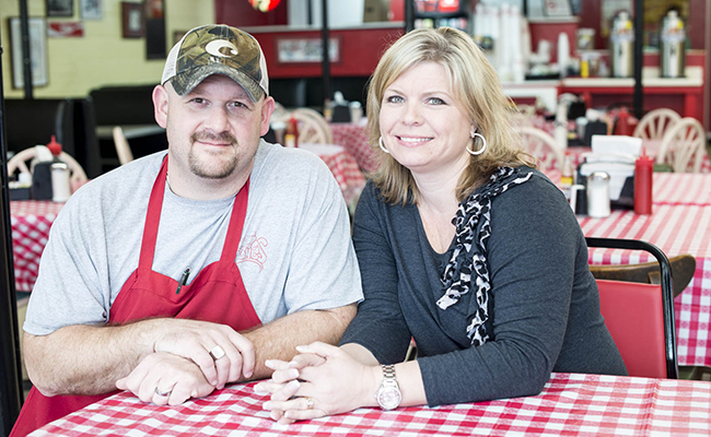 Burr Jones and his wife, Chrystal, are still in this business for one reason: to make you full and happy.