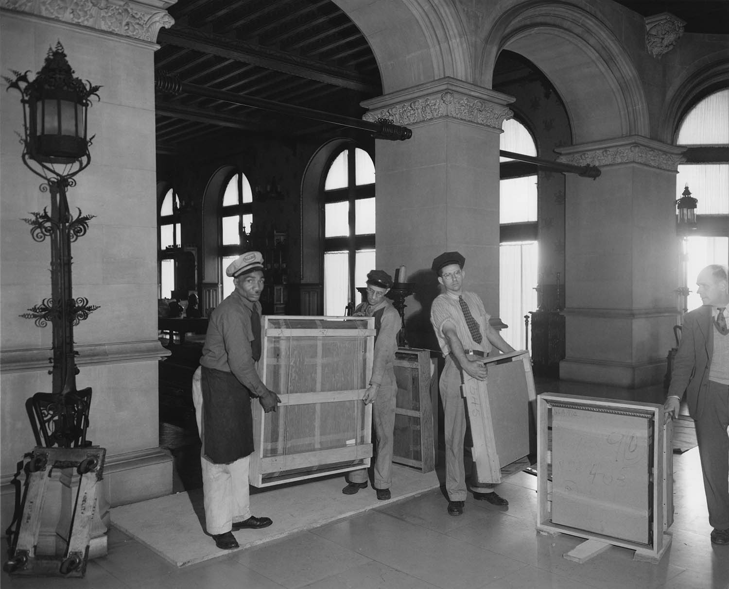 In 1944, when it became clear that works of art from the National Gallery were safe, they were removed from the Biltmore House and escorted back to Washington with a celebratory motorcade — a much more public journey than the top-secret one that had brought them to Asheville.