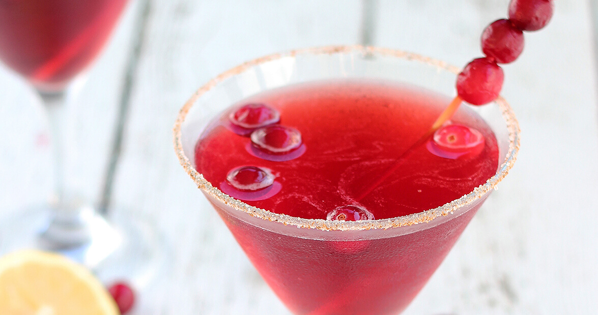 cranberry bourbon martini