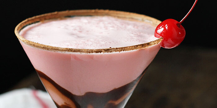 chocolate cherry cream cocktail