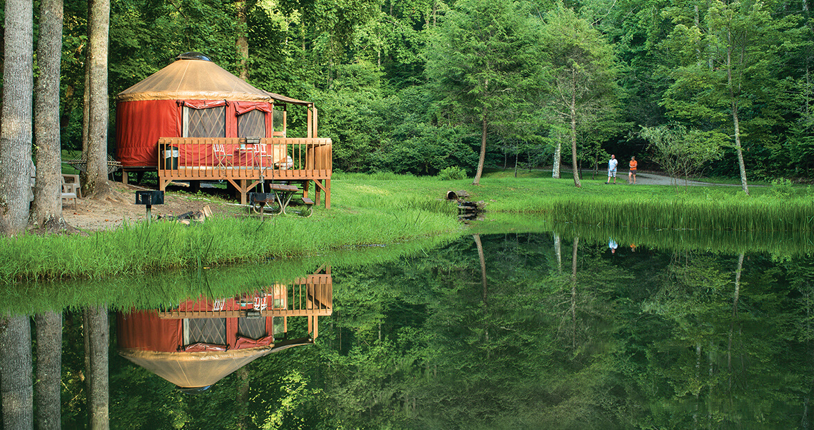 Yurts offer luxury in the rugged nantahala gorge our for The cabins at nantahala