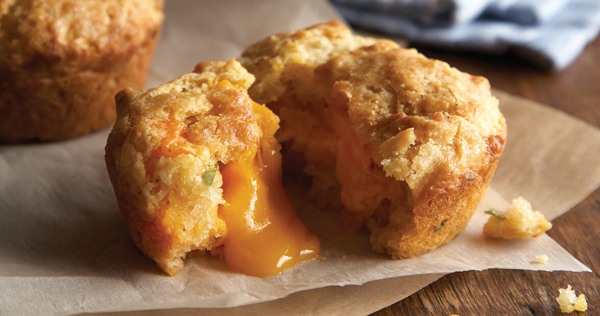 cheese-stuffed biscuits