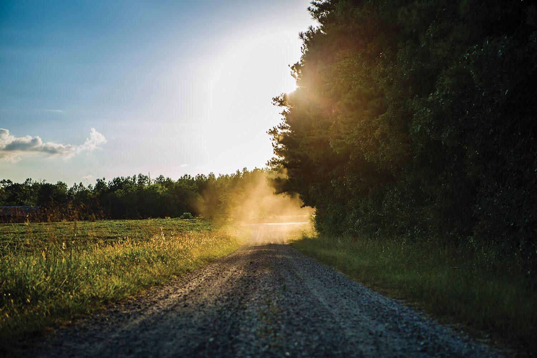 gravel roads