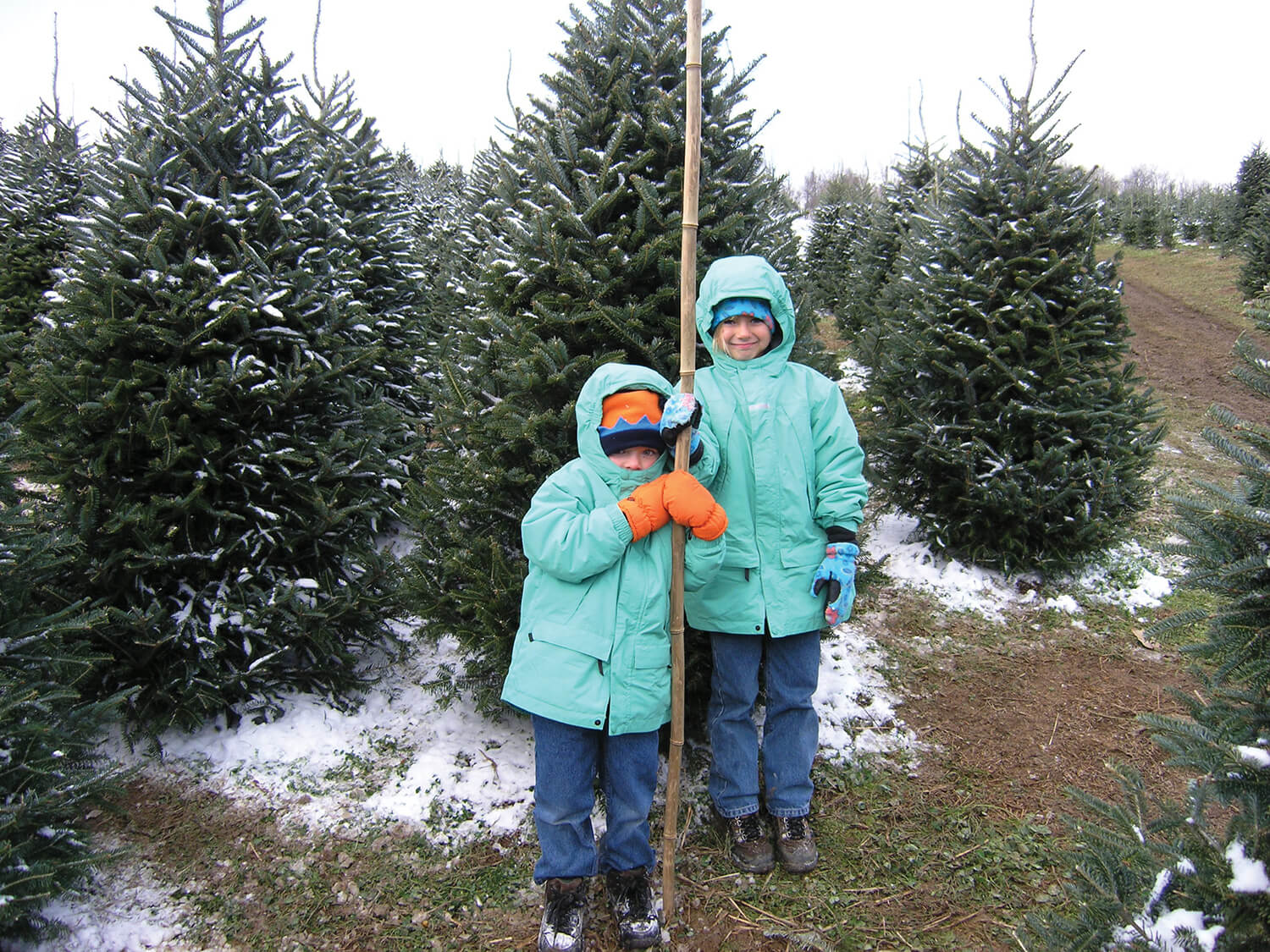 The Nickens family's tradition began in 2003, with Jack and Markie Nickens — and a cane-pole measuring stick — in the North Carolina High Country.