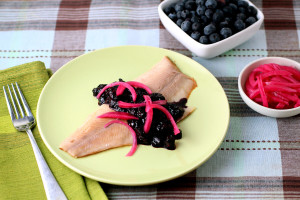 smoked trout blueberry chutney
