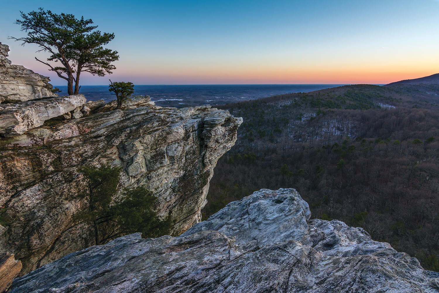 At more than 2,000 feet, Hanging Rock has one foot in the Piedmont, and the other in the Foothills of Stokes County.