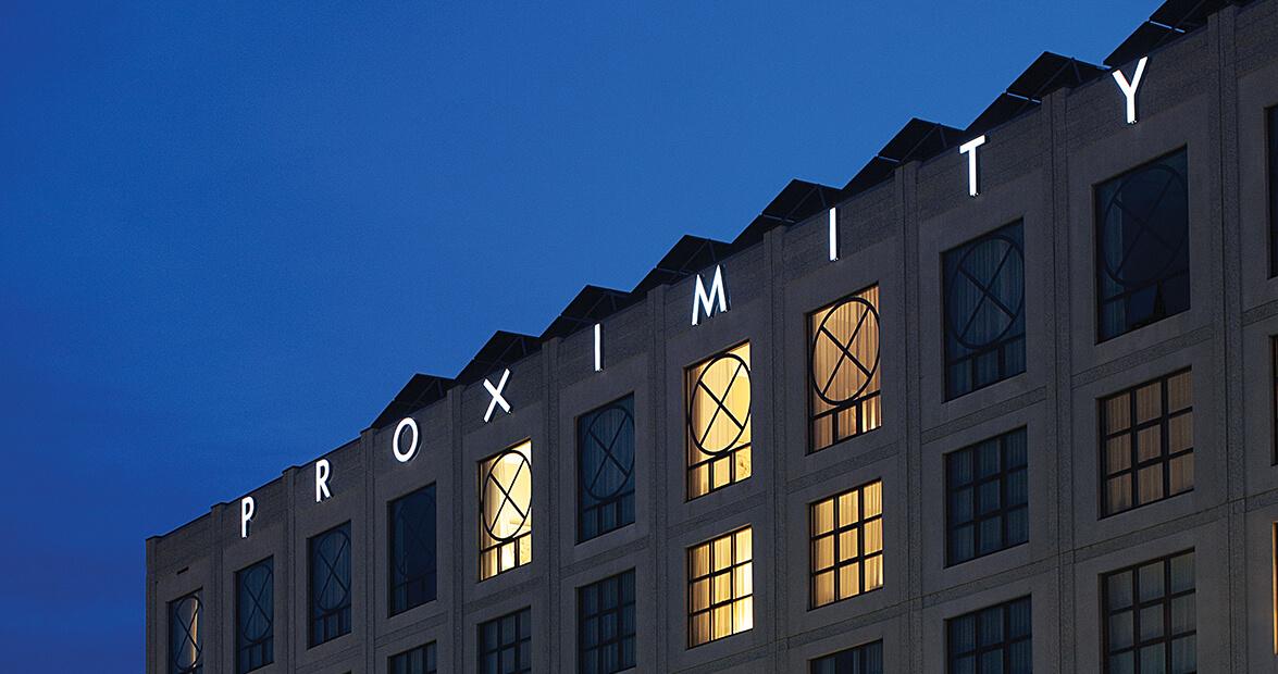 proximity hotel sign