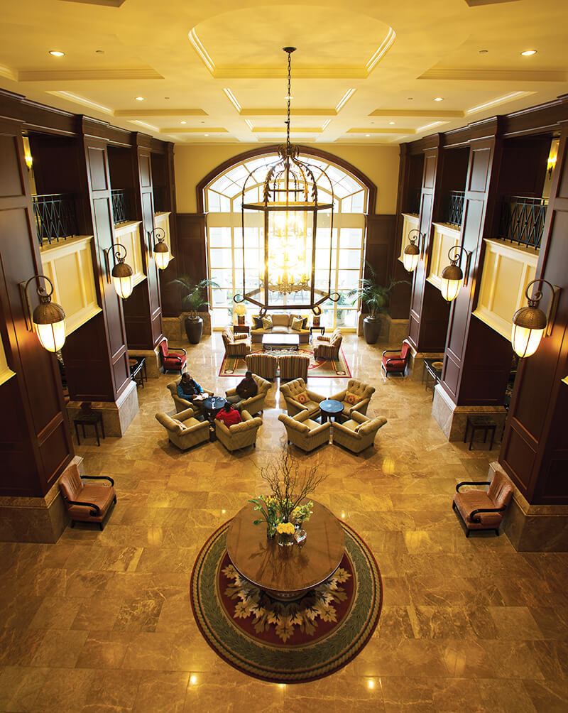 ballantyne hotel lodge lobby