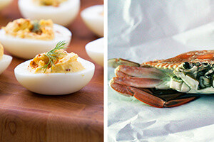 deviled egg crab casserole thumbnail