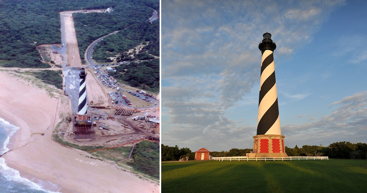 How the Cape Hatteras Lighthouse Was Moved