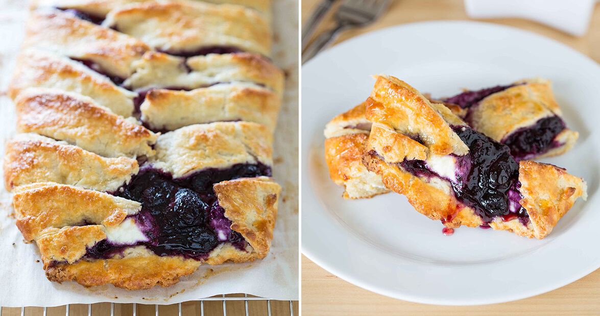 blueberry goat cheese pastry