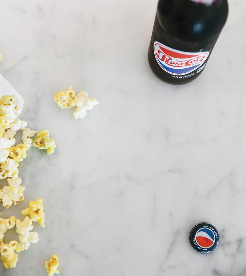 pepsi and popcorn