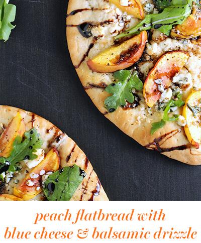 bitesize peach flatbread