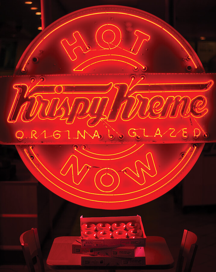 krispy kreme hot now