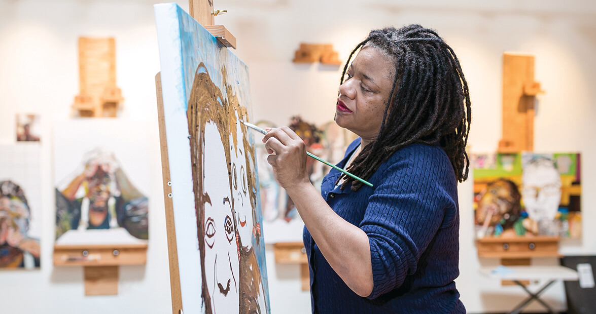 Studio Tour with Durham's Beverly McIver