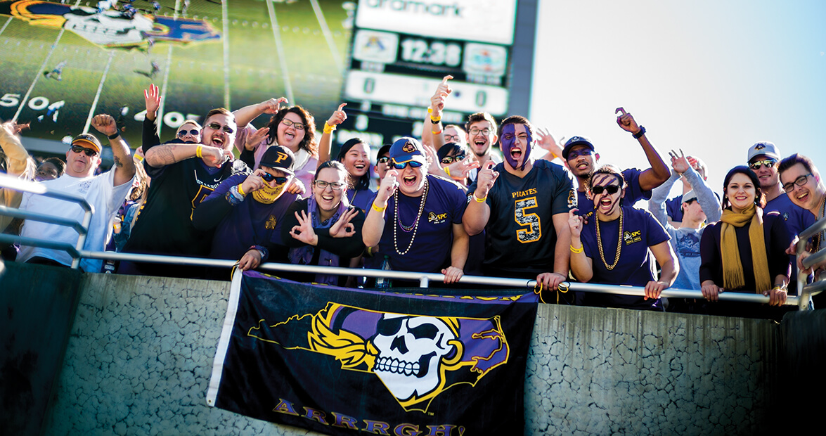 East Carolina University Fans Are Pirates To The Core