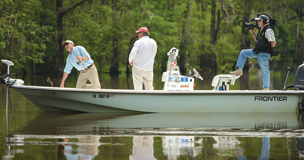 Patience pays off when filming unc tv fishing show our for Fishing tv shows