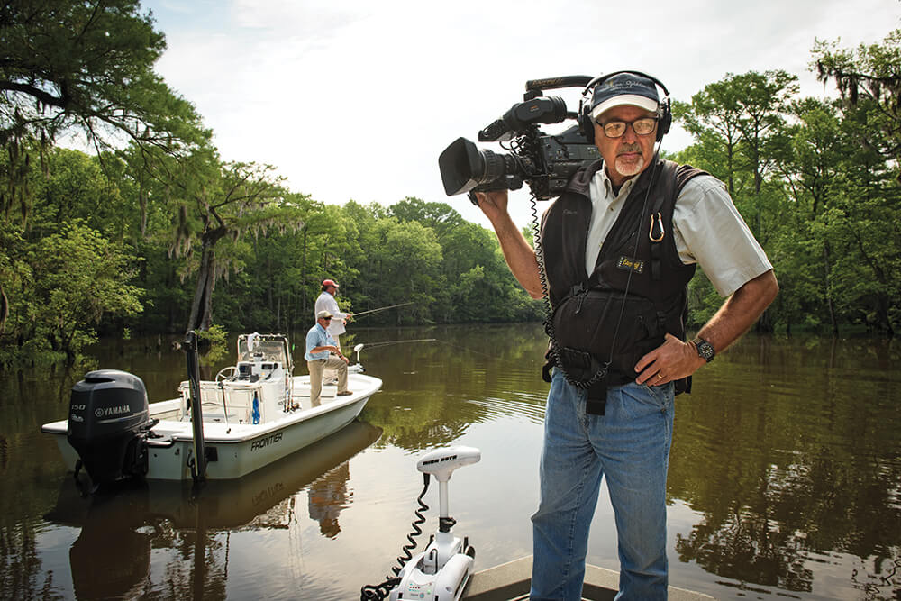 Patience Pays Off When Filming UNC-TV Fishing Show