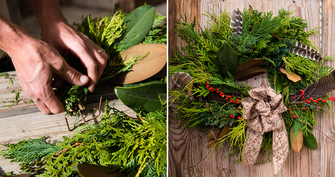 Diy Make A Wreath Using Greenery From Your Own Backyard Our State