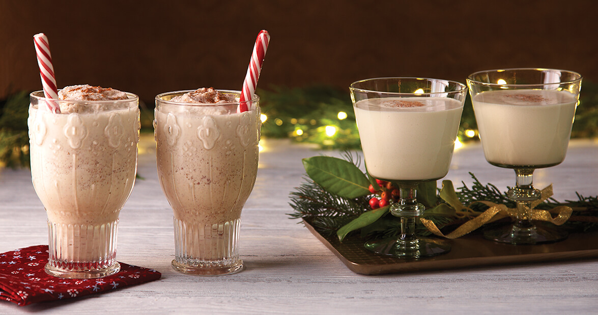 Homemade Eggnog 2 Ways: One Naughty, One Nice