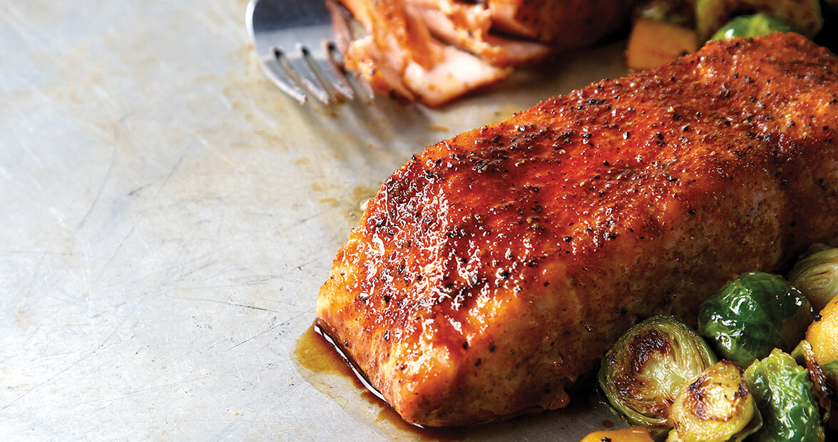 Molasses-Glazed Salmon Filets