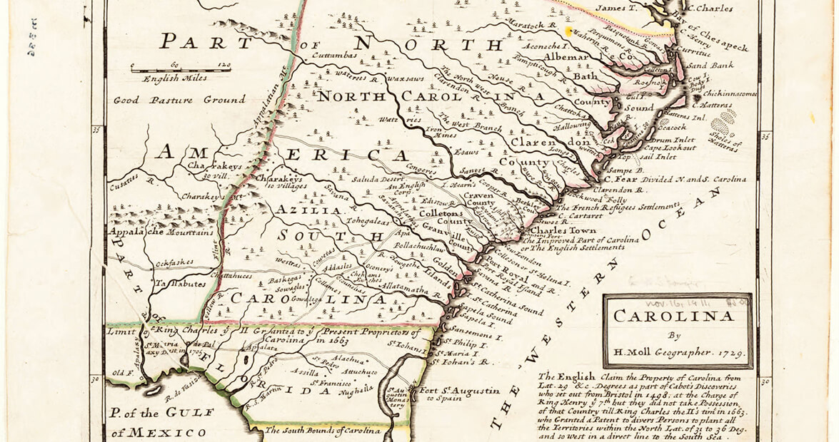 North Carolina Colony Map North Carolina was a Short Lived Royal Colony | Our State Magazine