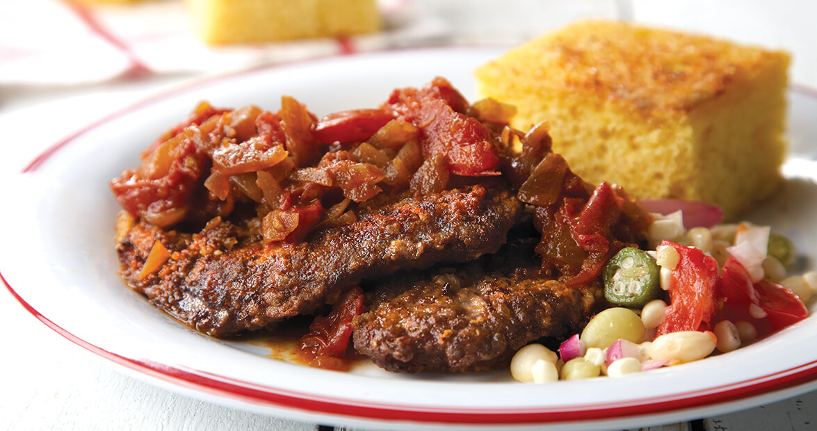 Cube Steak with Tomato-Onion Chutney