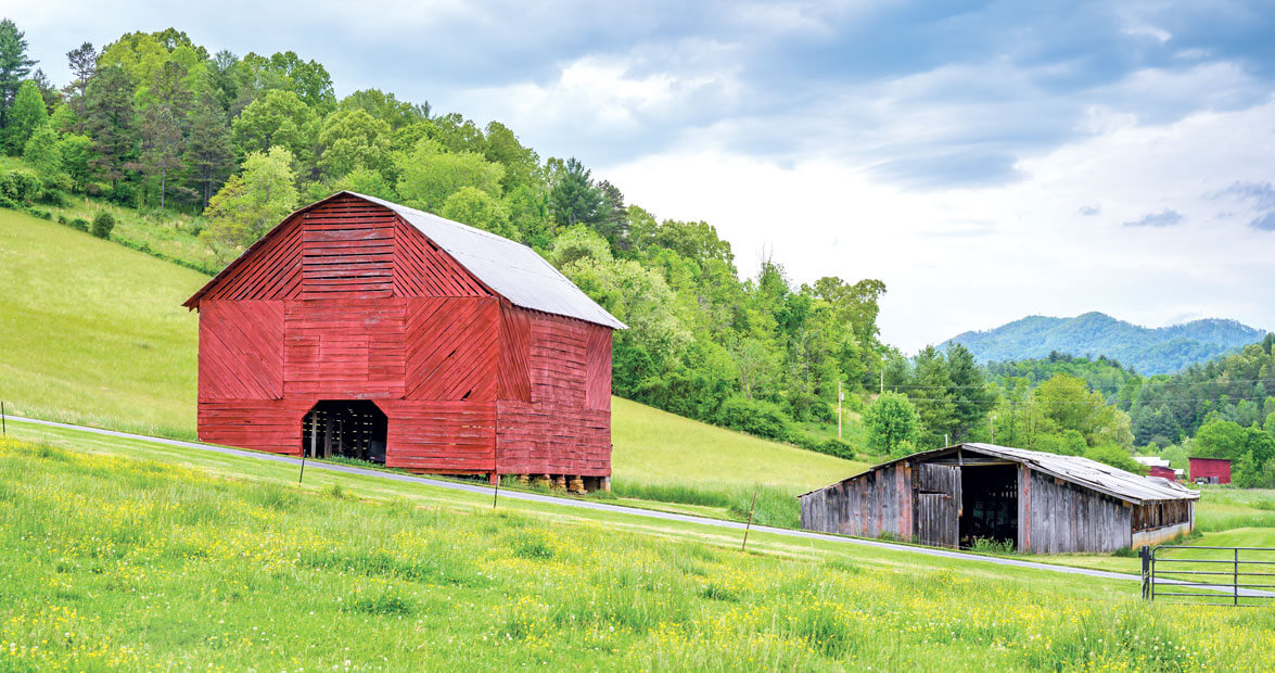 The Tobacco Barns Of Madison County