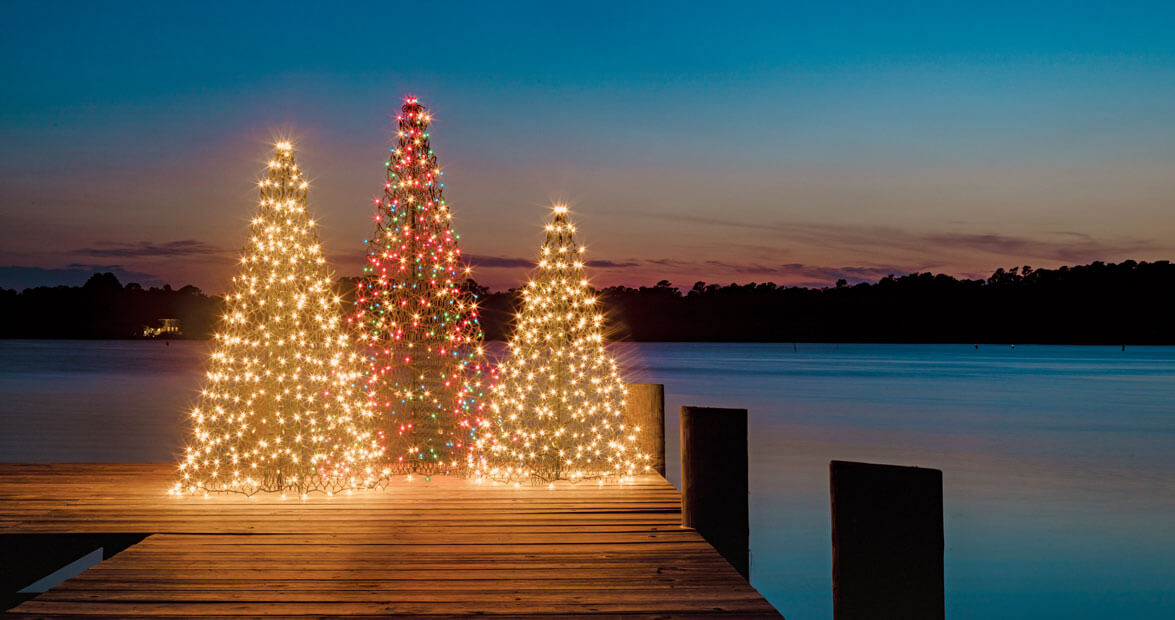 A Core Sound Christmas: Crab Pot Christmas Trees in Marshallberg, North Carolina